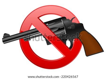 no revolver illustration. - stock photo