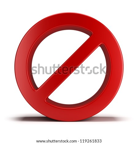 No sign. 3d image. Isolated white background. - stock photo