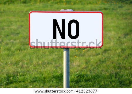 No signpost - stock photo
