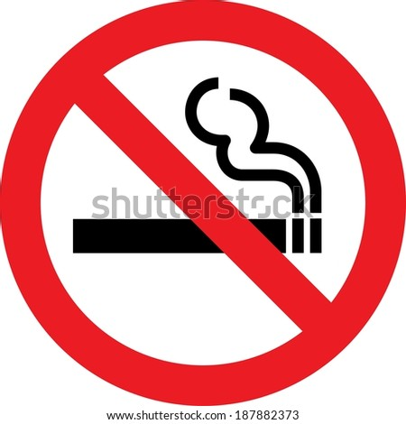 No smoking allowed sign - stock photo