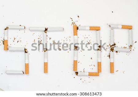 No smoking concept background - stock photo