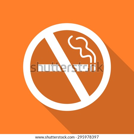 no smoking flat design modern icon with long shadow for web and mobile app  - stock photo