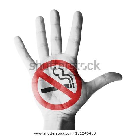 No smoking - isolated on white background - stock photo