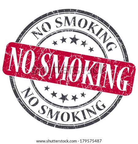 No Smoking red grunge round stamp on white background - stock photo