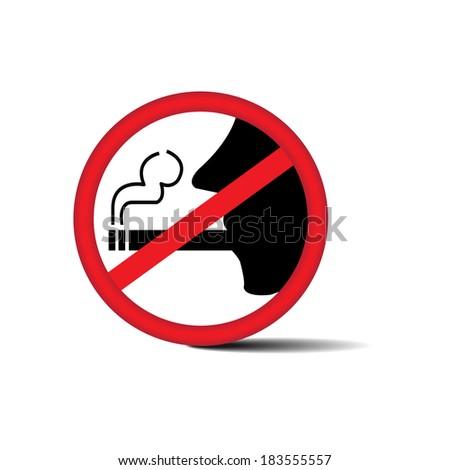 No smoking sign on white background - jpg. - stock photo