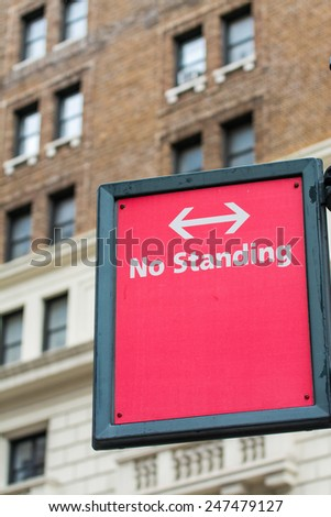 No standing street sign in New York. - stock photo