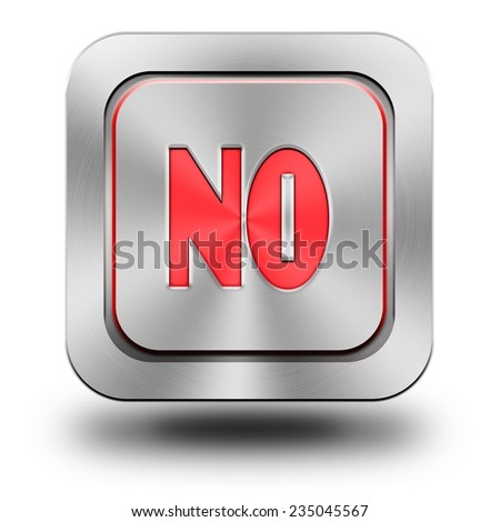 No symbol, aluminum, steel, chromium, glossy, icon, button, sign, icons, buttons, crazy colors - stock photo