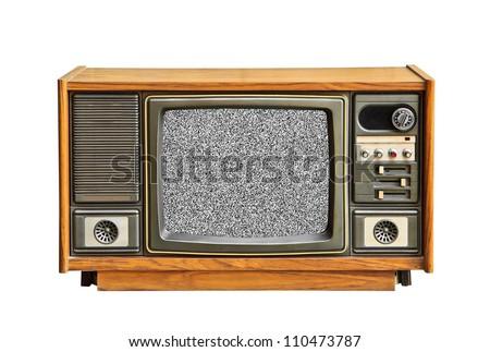 No television signal. - stock photo
