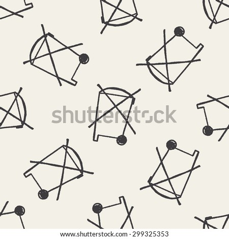 no trash doodle seamless pattern background - stock photo