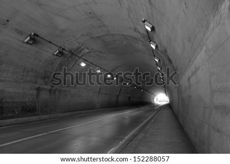 No vehicular tunnel  - stock photo