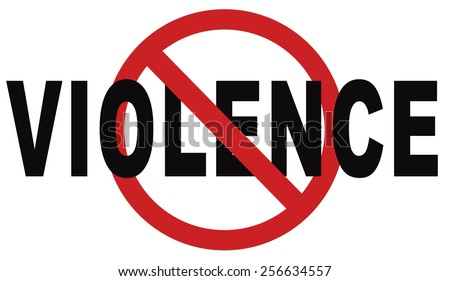 no violence or aggression stop violent or aggressive actions no war or fights prevention - stock photo