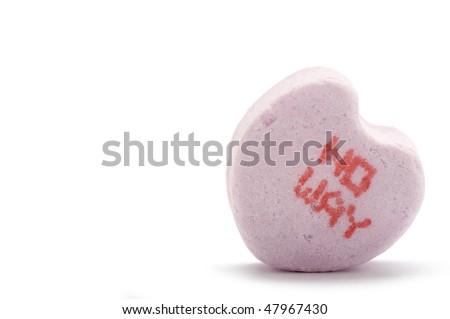 No way - Candy Heart - stock photo