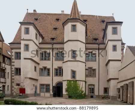 noble building in Selestat - stock photo