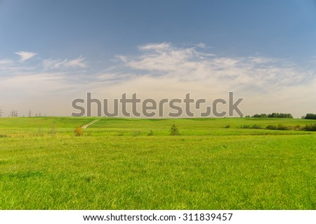 Nobody Outside Grass Land  - stock photo