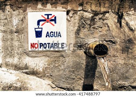 non potable water - stock photo