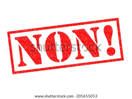 NON! red Rubber Stamp over a white background. - stock photo