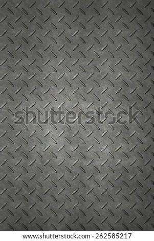 Non-slip metal floor sheet - stock photo