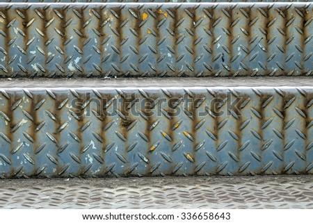 Non-slip steel./Non-slip steel../The stairs made of steel slip - stock photo