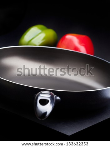 non-stick frying pan - stock photo
