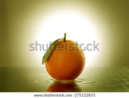 Non-toxic oranges - stock photo