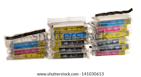 Noname ink cartriges - stock photo
