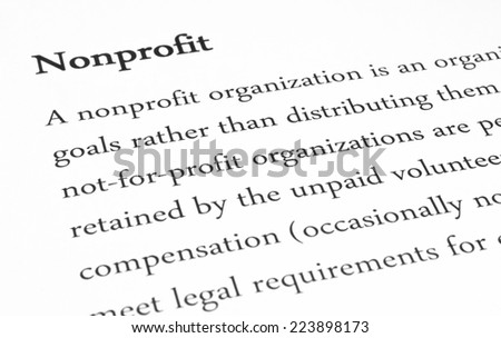 nonprofit meaning - stock photo