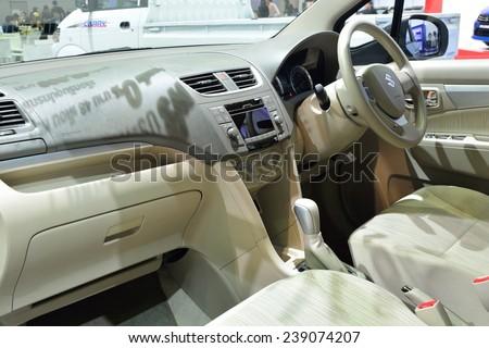 NONTHABURI - DECEMBER 1: Interior design of Suzuki Ertiga car display at Thailand International Motor Expo on December 1, 2014 in Nonthaburi, Thailand. - stock photo
