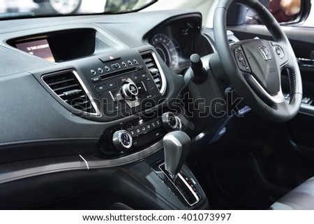 NONTHABURI - MARCH 23: Interior Design Honda on display at The 37th Bangkok International Motor show on MARCH 23, 2016 in Nonthaburi, Thailand. - stock photo