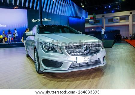 NONTHABURI - MARCH 24: Mercedes-Benz CLA250 Shooting Brake on display at Thailand 36th Bangkok International Motor Show 2015 on March 24, 2015 in Nonthaburi, Thailand. - stock photo