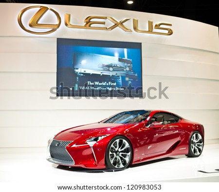NONTHABURI, THAILAND - DECEMBER 1: Lexus LF-LC Sports Coupe Concept Prototype in Motor Expo 2012 on December 01, 2012 in Nonthaburi, Thailand - stock photo