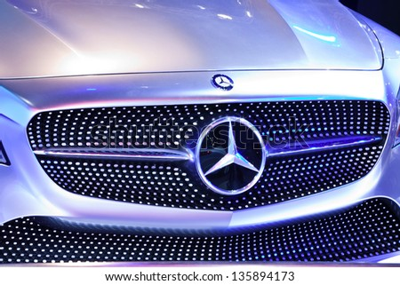 NONTHABURI, THAILAND - MARCH 26: Mercedes Benz Concept Style Coupe showed in 34th Bangkok International Motor Show on March 26, 2013 in Nonthaburi, Thailand. - stock photo