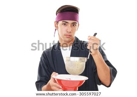 Noodle chef - stock photo
