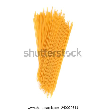 noodles closeup isolated on white - stock photo