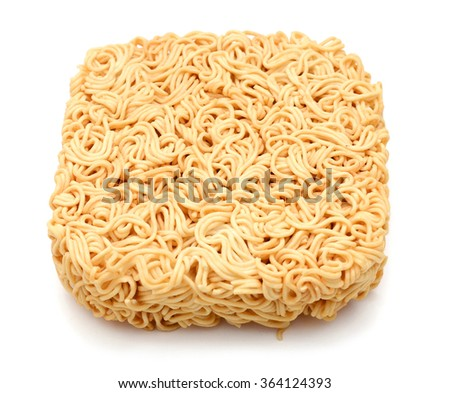 Noodles isolated on white background - stock photo