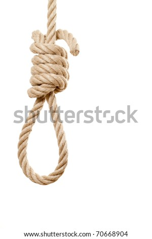 Noose isolated on white background - stock photo