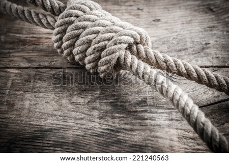 noose knot - stock photo