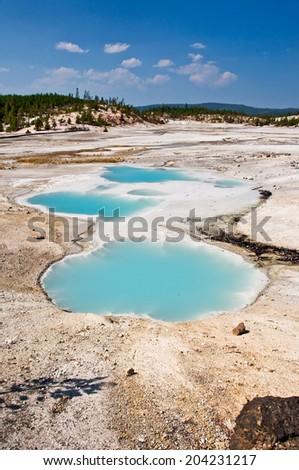 Norris Geyser Basin, Yellowstone National Park USA - stock photo