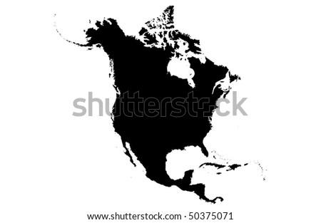 North America - stock photo