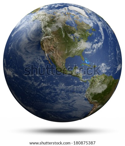 North America. Elements of this image furnished by NASA - stock photo
