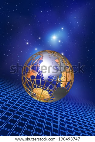 North America, front and center - stock photo