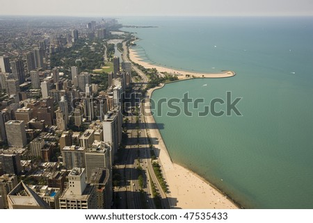 North Chicago lakefront - stock photo