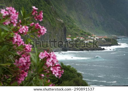 North coast of Madeira Island, Portugal, Europe - stock photo