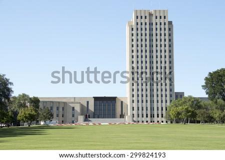North Dakota State Capital, Bismarck ND - stock photo