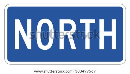 North directional Sign isolated on a white background - stock photo