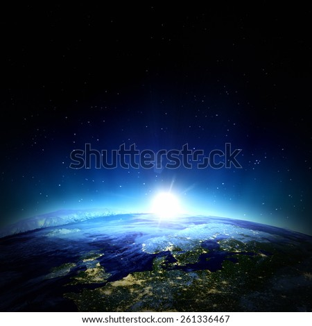 North Europe. Elements of this image furnished by NASA - stock photo