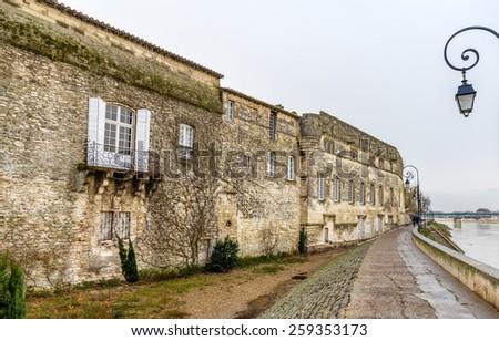 North facade of Reattu Museum in Arles, France - stock photo