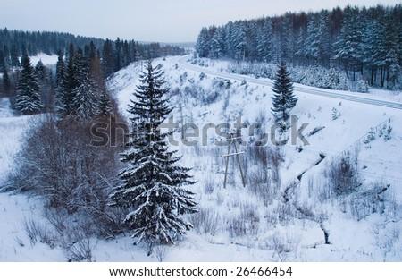 north landscape - stock photo