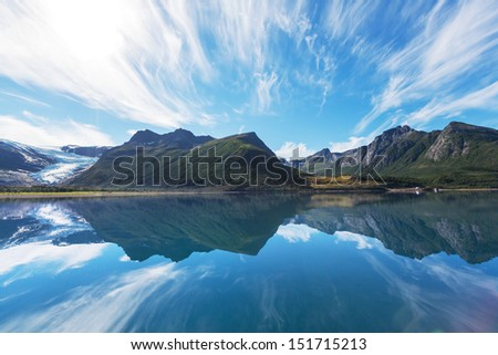 North Norway landscapes - stock photo