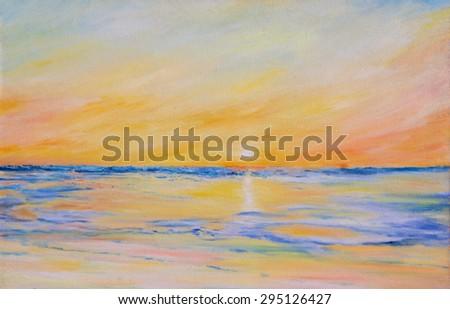 North sea - stock photo