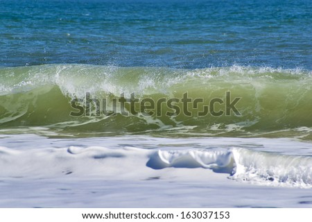 North Sea wave II. - stock photo
